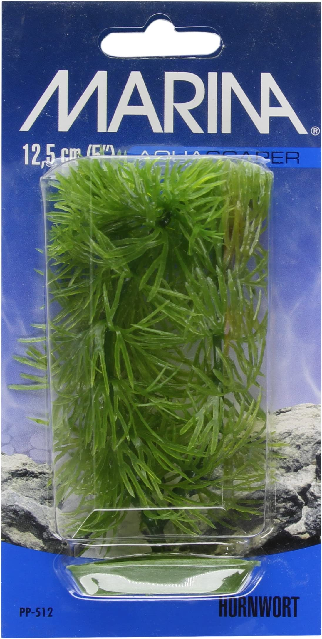 White Foxtail Plant Marina Vibrascaper Fish Tank Decorations 5in 12083