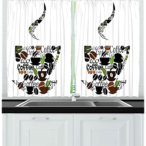 Coffee Kitchen Curtains: Amazon.com