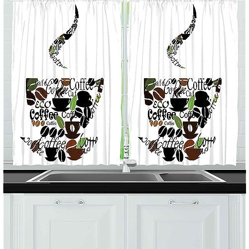 Modern Kitchen Curtains: Amazon.com