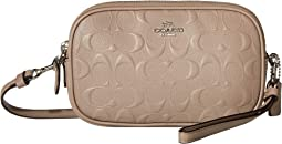 코치 크로스바디백 COACH Embossed Signature Crossbody Clutch,Stone