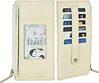 All in One Card Case Holder Slim Wallet With a Card Protection Strap by Leatherboss