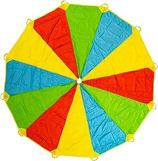 comprar comparacion Paracaídas Infantil Grande Arcoiris 12 Pies 12 Asas, Horas De Diversión Y Entretenimiento Para Niños Y Infantil Pequeños, ...