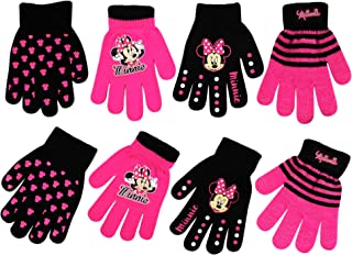 Little Girls Disney Assorted 4 Pair Set Mittens or Gloves, Age 2-4 or 4-7