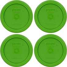 Pyrex 7202-PC 1 Cup Lawn Green Round Plastic Food Storage Lids - 4 Pack