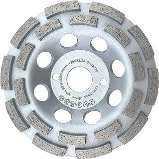 PRODIAMANT Premium diamantsliphuvud 125 mm betong universal 125 mm x 22,2 mm slipskiva dubbel rad