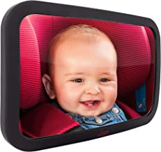 Baby Mirror for Car – Largest and Most Stable Backseat Mirror with Premium Matte..