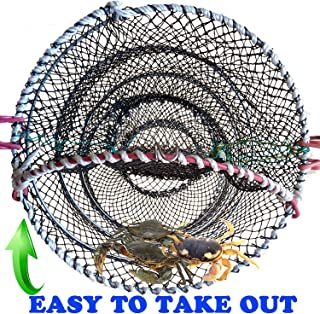AncBace CRAB TRAP FISHING TRAPS LINE Net FISHING ACCESSORIES LOBSTER SHRIMP CAGE BAIT CASE PORTABLE FOLDED