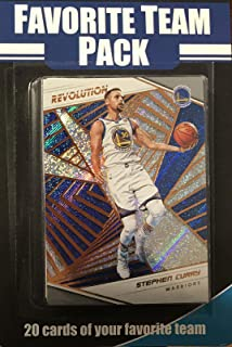 Golden State Warriors Factory Sealed 20 Card Favorite Team Set Pack Featuring 2018 2019 Revolution Series Cards of Stephen Curry, Kevin Durant, Draymond Green and Klay Thompson Plus 16 Other Cards