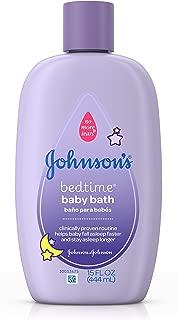Johnson's Bedtime Baby Bath, 15 Fl Oz (Pack of 6)