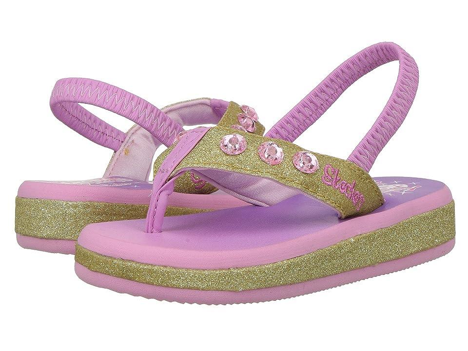 SKECHERS KIDS Twinkle Toes Sunshines 10752N Lights (Toddler) (Gold/Pink) Girl
