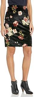 Star Vixen Women's Knee Length Classic Stretch Velvet Pencil Skirt