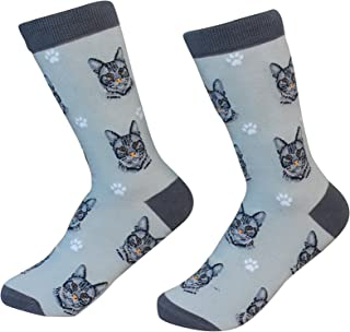 Silver Tabby Cat Breed Socks Unisex Sock Daddy by E&S Pets