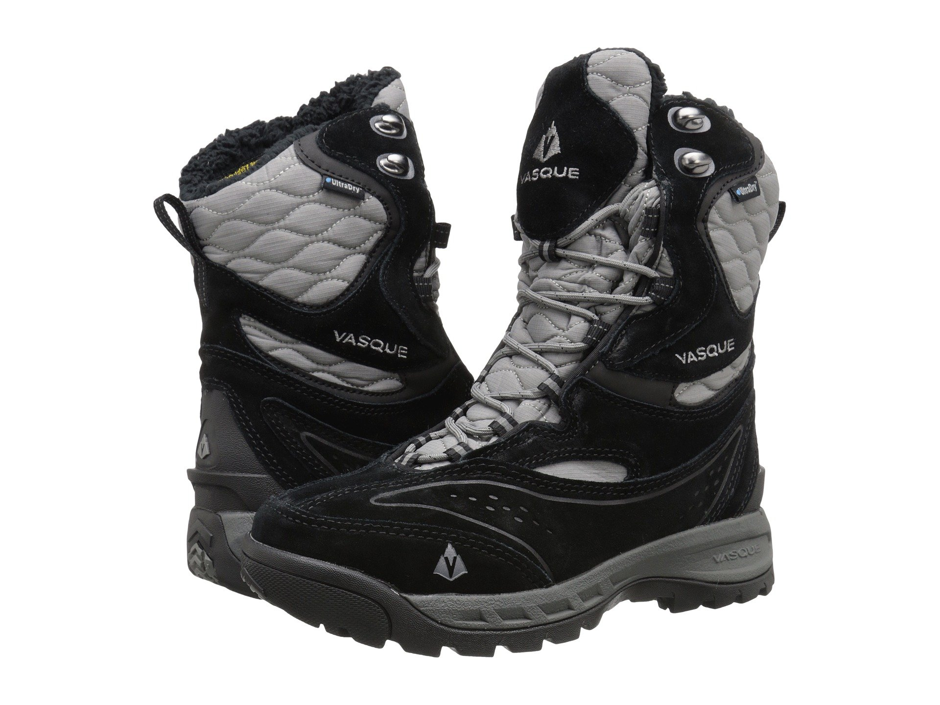 Vasque Women's Pow Pow II UltraDry Insulated Winter Boot, Black/Gargoyle,6 M US