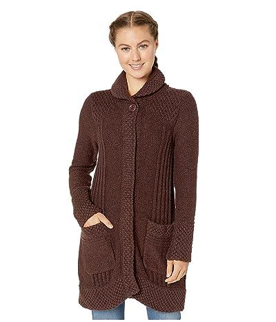 Prana Elsin Sweater Coat (Cocoa) Women