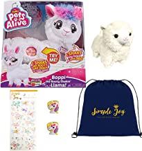 Simple Joy Toys Pets Alive Boppi The Booty Shakin Llama Dancing Toy Gift Set with 2 Unicorn Plush