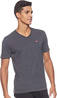 Levi's Men's Solid Regular fit T-Shirt (17076-0041_Black_Medium)