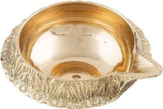 Shubhkart Handmade Indian Brass Deep Pack of 3