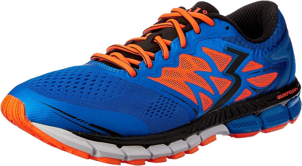 361 Degrees Strata 2 - Mens Structured Running Shoe Men's Running Shoes, Ocean Blue/Black