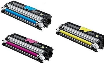 4,500 Pages - (C, M, Y) Konica Minolta Magicolor Compatible High Yield Laser Toner Cartridge for Magicolor 2400, 2400dl, 2400n, 2400w, 2430, 2430dln, 2430w, 2450, 2450en, 2450n, 2480mf, 2490mf, Magicolor 2500, 2500w, 2530dl, 2550en, 2550dn