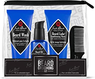 Jack Black - Beard Grooming Kit - Beard Wash, Beard Lube Conditioning Shave, Beard Oil, Beard Comb, Helps Soften Facial Hair, Pre-Shave Oil, Shave Cream, Sulfate-Free Formula, 4-Piece Kit