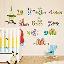 Walplus Muurstickers Dieren Nummering II Verwijderbare Zelfklevende Muurschildering Art Decals Vinyl Woondecoratie DIY Woo...