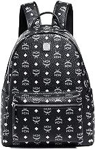 MCM Men's Stark Medium Backpack, Black/White, One Size