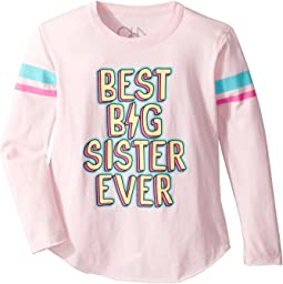 Chaser Kids - Long Sleeve Super Soft Best Big Sis Tee (Little Kids/Big Kids)