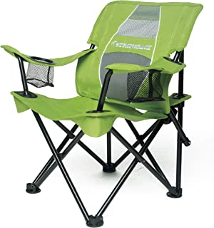 STRONGBACK Prodigy - Kids Folding Heavy Duty Camping Chair with Lumbar Supportive Ergonomics and Portable Carry Bag