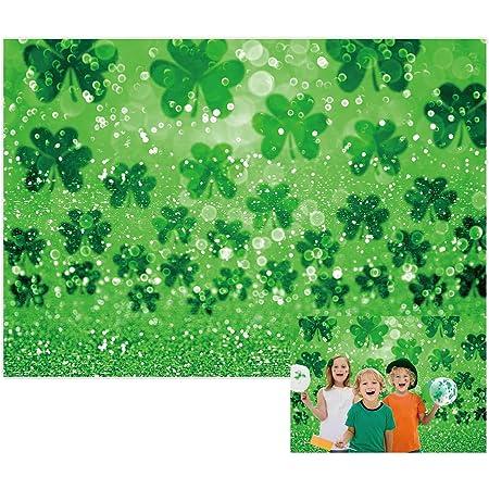 Patricks Day Backdrop Saint Patricks Day Decor Banner Handwork Paper Leprechaun Hat Shamrock Irish Lucky Day Background for Photography SZZWY 7x5ft Happy St