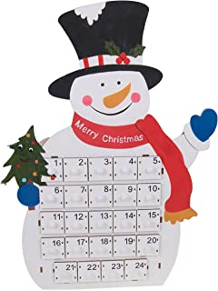 """Clever Creations Tall Snowman Advent Calendar 24 Day Countdown to Christmas Calendar 