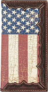 Custom Original American Flag Long Wallet with Distressed United States Flag