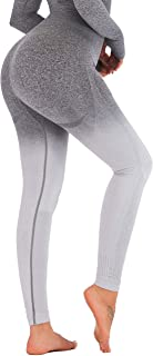 Ombre Seamless Gym Leggings Power Stretch High Waisted Yoga Pants Running Workout Leggings