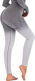 RUNNING GIRL Ombre Seamless Gym Leggings Power Stretch High Waisted Yoga Pants Running Workout Leggings
