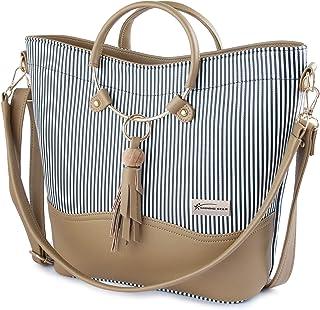 Shining Star Women's Handbag (ST-009B ZEBRA_Black)