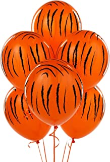 Qualatex 6 Pack Jungle Tiger Stripes Latex Balloons