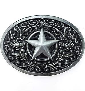 Fashion American Black Enamel Pattern Lone Star Oval Belt Buckle For Women Men
