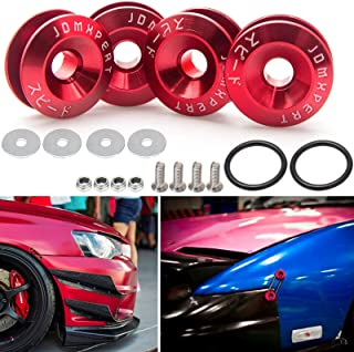 JDM Quick Release Fasteners For Car Bumpers Trunk Fender Hatch Lids Red Color