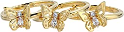 Kate Spade New York - Social Butterfly Stackable Ring Set