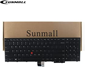 SUNMALL Laptop Keyboard Replacement with Frame Compatible with Lenovo Thinkpad E550 E550C E555 E560 E565 Series Laptop Black US Layout (6 Months Warranty)