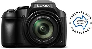 Panasonic Lumix Bridge Lumix Hi-Zoom 4K Point and Shoot Travel Camera, Black (DC-FZ80GN-K)