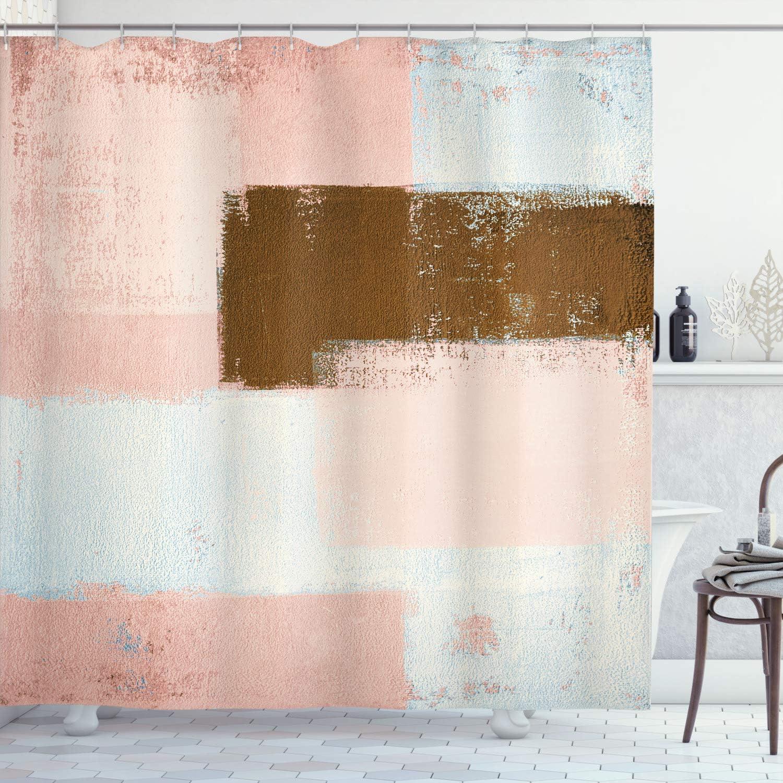 Ambesonne Abstract Shower Curtain 買取 Grunge セール品 Brushst Style