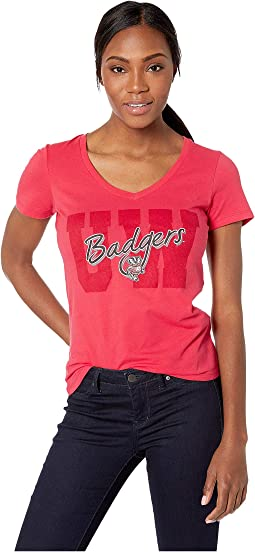 Wisconsin Badgers University V-Neck Tee