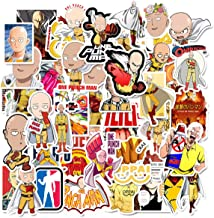 ONE Punch-Man Sticker Pack of 50 Stickers - Waterproof Durable Stickers Classic Japanese Anime Stickers for Water Bottles ...