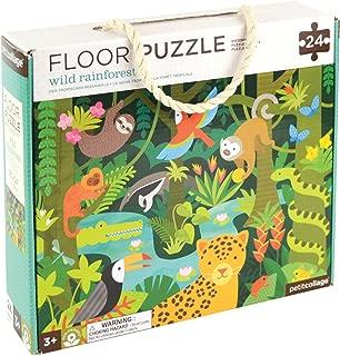 Petit Collage Floor Puzzle, Wild Rainforest, 24 Pieces