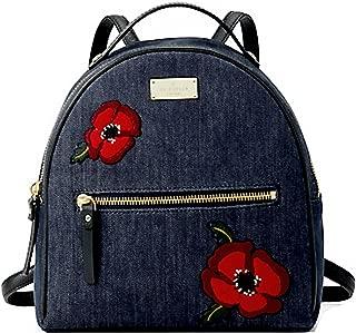 Kate Spade Grove Street Poppy Sammi Small Backpack Denim Blue Red Floral