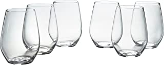 12 stemless wine glasses