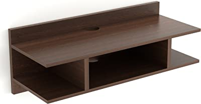DECORVAIZ Coober Engineered Wood TV Entertainment Wall Mounted Shelf Racks Wooden tv cabinets for Home Living Room Floating Shelves for Living Room, Bedroom, Set Top Box Stand - Standard