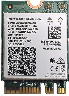 Intel OSGEAR-New Dual Band Wireless-AX200NGW WLA/Wi-Fi 6 AX200 2230 2x2 AX+ Bluetooth 5.0, M.2/A-E-Key (AX200.NGWG) Wi-Fi ...