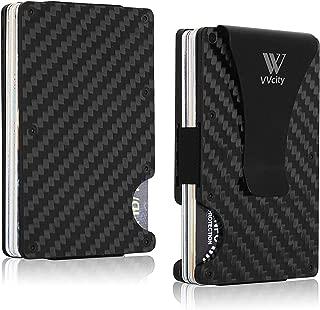 VVCity Carbon Fiber Wallet, Minimalist Wallet - RFID Blocking Front Pocket Wallet - Forged Carbon Fiber Slim Wallet