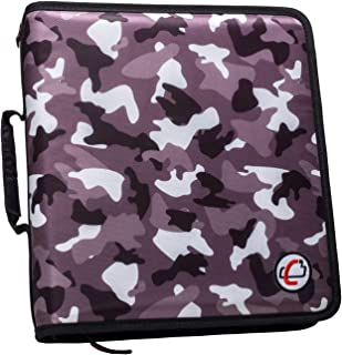Case-it 2-inch Classic O-Ring Zipper Binder, Black Camo, T-221-P-BLK